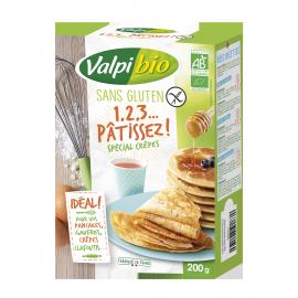 Mix spécial-crêpes-gaufres sans gluten BIO - VALPIBIO (200g) lppr 0.45€