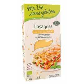 Lasagnes lentilles-jaunes sans gluten BIO - MA-VIE-SG (250g) lppr 1.40€