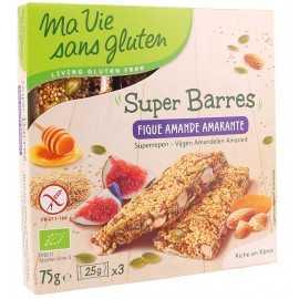 Barre figue-amande-amarante sans gluten BIO - MA-VIE-SG (75g)