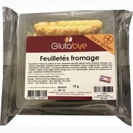 GLUTABYE - Feuilletes fromage (75 g) lppr 0.96e