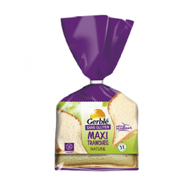 Pain de mie moelleux nature sans gluten - GERBLE (350g) lppr 1.68€