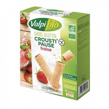 Crousti-pause fraise sans gluten BIO - VALPIBIO (125g) lppr 1.59e