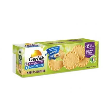 Biscuits sablés nature sans gluten - GERBLE (120g) lppr 1.46€
