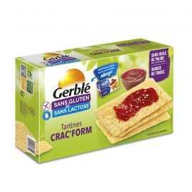 Toasts sans gluten riz-maïs CRACFORM - GERBLE (250g) lppr 1.20€