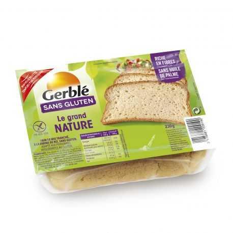 Pain campagnard sans gluten GRAND-NATURE - GERBLE (230g) lppr 1.40€