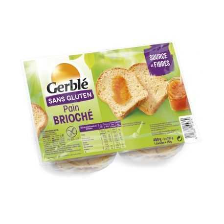 Pain brioché sans gluten - GERBLE (400g) lppr 1.92€