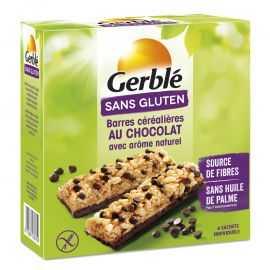 Barres céréales-cacao sans gluten X6 - GERBLE (132 g) lppr 1,59€
