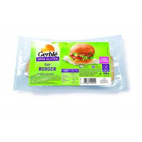 Pains hamburger sans gluten X4 - GERBLE (300g) lppr 1.44€