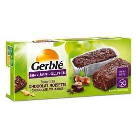Brownies choco-noisette sans gluten X4 - GERBLE (150g) lppr 1.91€