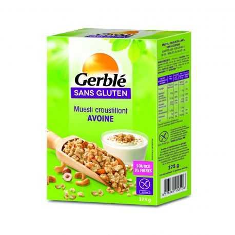 Muesli croustillant avoine sans gluten - GERBLE (375g)