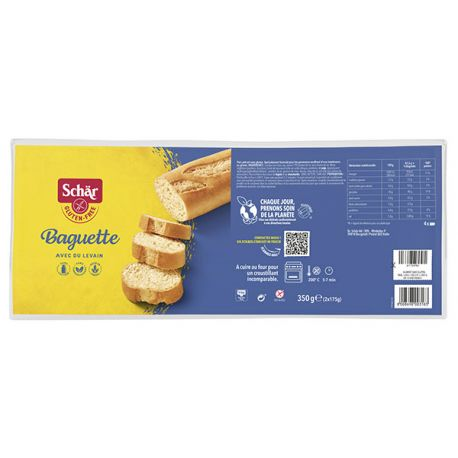 Baguettes longues sans gluten X2 - SCHAR (350g) lppr 1.68€