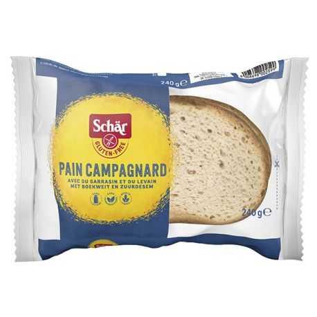 Pain campagnard sans gluten - SCHAR (240g) lppr 0.96€