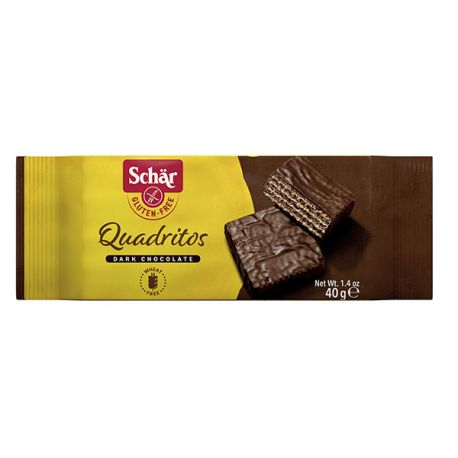 Gaufrettes cacao sans gluten QUADRITOS - SCHAR (40g) lppr 0.51€