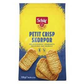 Petits grillés sans gluten CRISP-SCORPOR - SCHAR (150g) lppr 0.72€