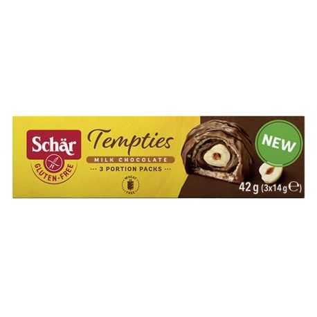 Bouchées noisette-cacao sans gluten TEMPTIES - SCHAR (42g)