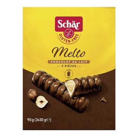 Biscuits crème-de-noisette et cacao sans gluten MELTO - SCHAR (90g) lppr 0.96€