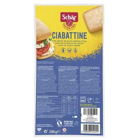 Ciabatta moelleux sans gluten X4 - SCHAR (200g) lppr 0.96€