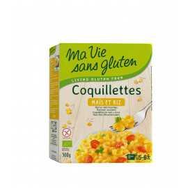 Coquillettes maïs-riz sans gluten BIO - MA-VIE-SG (500g) lppr 2.80€