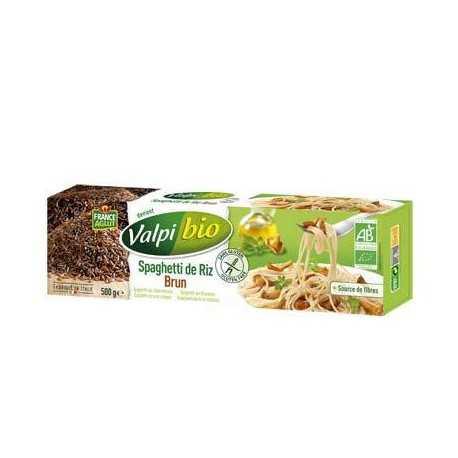 Spaghetti riz-brun sans gluten BIO - VALPIBIO (500g) lppr 2.80€
