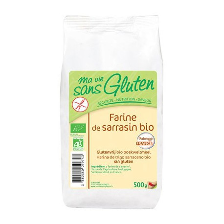 Farine de sarrasin sans gluten BIO - MA-VIE-SG (500g)
