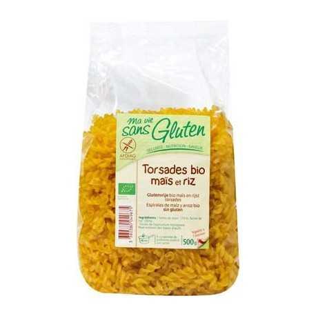 Torsades maïs-riz sans gluten BIO - MA-VIE-SG (500g) lppr 2.80€