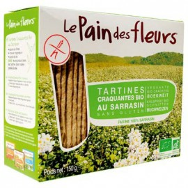 Toasts sarrasin BIO - PAIN-des-FLEURS (150g) lppr 0.72€