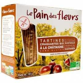Toasts riz-châtaigne BIO - PAIN-des-FLEURS (150g) lppr 0.72€