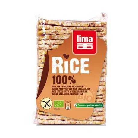 LIMA - Galettes fines de riz-complet BIO (130 g)