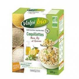 Coquillettes Maïs-riz-quinoa sans gluten BIO - VALPIBIO (500g) lppr 2.80€