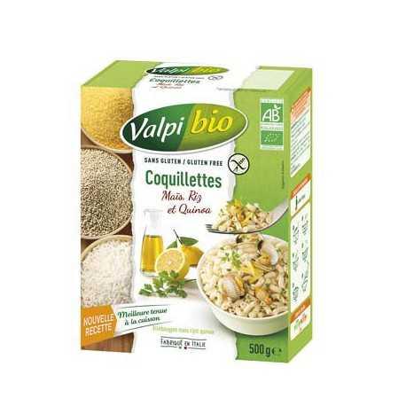 VALPIBIO - Coquillettes Maïs-riz-quinoa BIO (500 g) lppr 2.80e