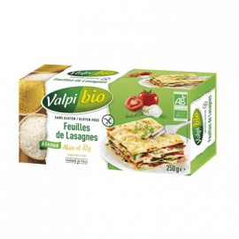 VALPIBIO - Lasagnes maïs-riz BIO (250 g) LPPR 1.40e