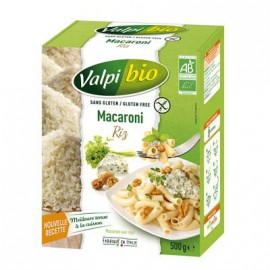 Macaroni riz-complet sans gluten BIO - VALPIBIO (500g) lppr 2.80€