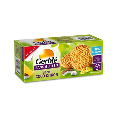 GERBLE - Biscuit coco citron (120 g) lppr 1,46e