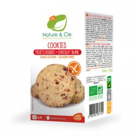 Cookies fruits-rouges et chocolat-blanc sans gluten BIO - NATURE-et-CIE (150g) lppr 1.59€