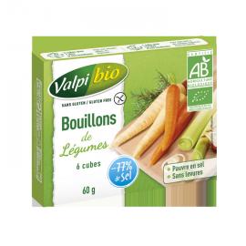 Cubes de bouillon de légume sans gluten X6 BIO (60g)