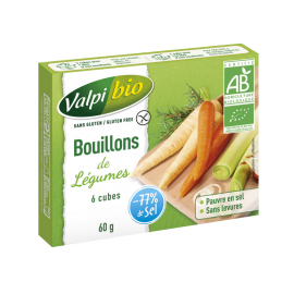 Cubes de bouillon de légume sans gluten X6 BIO - VALPIBIO (60g)