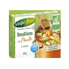 Cubes de bouillon de poule sans gluten X6 BIO - VALPIBIO (60g)