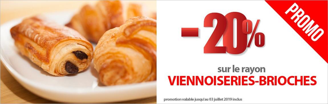 Tout le rayon Viennoiseries et Brioches en PROMO !!!